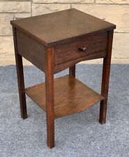 Arts & Crafts Mission Style Quartersawn Oak End Table Night Stand