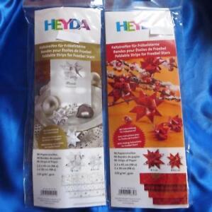 96 Faltstreifen für Fröbelsterne Heyda Basteln Papierstreifen Fröbelsten Stern