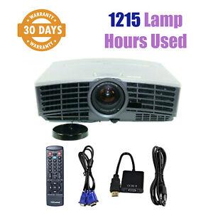 Mitsubishi ES100U Portable DLP Projector HD 1080 - 1215 Lamp Hours Used w/bundle