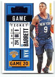 2020-21 Panini Contenders Game Ticket BLUE Parallel #80 RJ Barrett 17/49