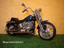 1:18 Harley Davidson Springer Softail Blu/01029