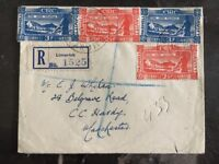 1947 Limerick Ireland Registered Cover To Manchester England