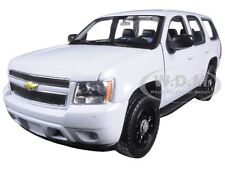 2008 CHEVROLET TAHOE UNMARKED POLICE WHITE 1/24 DIECAST MODEL BY WELLY 22509