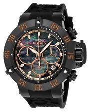 Invicta 22921 Men's Subaqua Black MOP Dial Black Silicone Strap Chronograp Watch