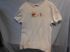Women's The Disney Catalog Winnie the Pooh Embroidered Ribbed T - Shirt + Pocket