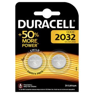 2 x Duracell CR2032 3v LITHIUM Coin Cell Batteries (pack of 2) DL2032 Exp.2028