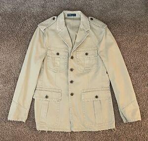 Vintage Polo Ralph Lauren Khaki Safari Button Jacket Men's Size M