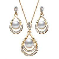 de bijoux pearl boucles d'oreilles lâche ce pendentif bijoux ensemble collier