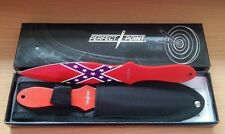 Perfection Point throwing knives 2 quality knife pair in box and case sharp red