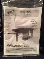 """1-1/2"""" Milwaukee Heavy Duty Rotary Hammer Operator's Manual Came w Model 5321-22"""