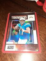 2019 Panini Score Throwbacks Insert Los Angeles Chargers Philip Rivers #T-14