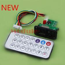 New Mini MP3 Decoder Board 5V/12V USB TF Reader+IR Remote MP3 Player for Car UK