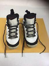 Youth Nike Air Jordan 9 GS Retro White Black Red Sz 4Y (SNEAKERS ARE HEAVY WORN)