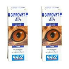 2 PCS  CIPROVET EYE DROPS for cats,dogs pet bactericidal and anti inflammatory