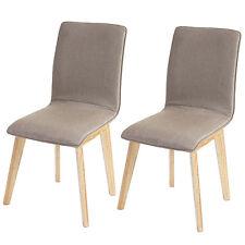2x chaise de salle à manger Zadar, fauteuil, rétro, tissu ~ marron avec couture