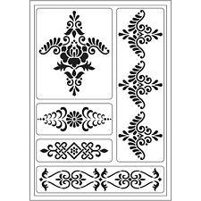 Viva Decor Flexible Sticky Stencil Decorative Border Styles 5 Designs
