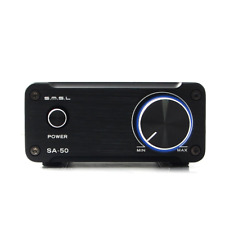 SMSL SA-50 Hi-Fi Stereo Amplifier for speakers with Power Adapter Black