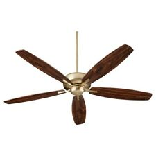 "Quorum Breeze 60"" Ceiling Fan, Aged Brass - 7060-80"