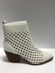 Michael Michael Kors Women's Augustine, White Zip Ankle Booties, Size 10M.