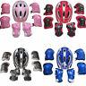 Boys Girls Kids Safety Helmet & Knee & Elbow Pad Set For Cycling Skate Bike One