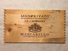 1 Rare Wine Wood Panel Monprivato Mascarello Vintage CRATE BOX SIDE 8/20 339a