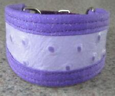 Purple OSTRICH LEATHER PREMIER COLLAR ITALIAN GREYHOUND MINIATURE PINSCHER