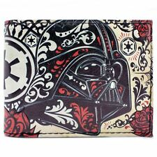 NEW OFFICIAL STAR WARS DARTH VADER HIPPIE RED ID & CARD BI-FOLD WALLET