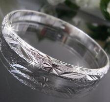 Bracciale Rigido Bangle Placcato argento gioiello CHIC 20cm x 0,8cm Donna A1164