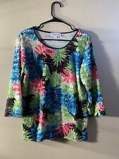 Monterey Bay - Ruffle Top Size M Colorful Top