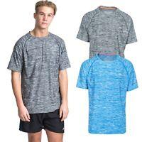 Trespass Gaffney Mens Active Top Short Sleeve in Blue & Grey