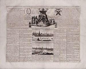 Antique map, Vue de la ville de Moscow