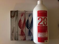 3 TUBES OF MATRIX SOCOLOR SPECIALTY COLLECTION HAIRCOLOR PLUS 32oz 20V DEVELOPER
