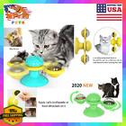 Interactive Cat Toy  Self Grooming Brush Kitten Activity Windmill Motion Play