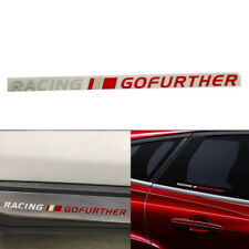 RACING GOFURTHER Car Sticker Motorcycle Reflective White&Red Sports Vinyl Decal
