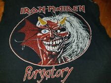 IRON MAIDEN PURGATORY ALIVE IN AMERICA VINTAGE 80S HEAVY METAL CONCERT SHIRT MED