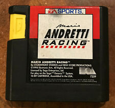 Mario Andretti Racing Genesis Game (cleaned, polished)