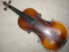 old nice 4/4  Violin NR violon , nicely flamed 1 part back