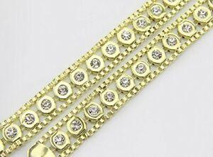New Fashion Ladies Chain Belts With Rhinestone Diamonds Gold-119.5cm