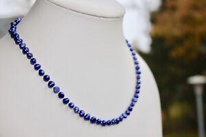 ab1B 48cm AAA Süßwasser Perle Schmuck Perlenkette Halskette Kette Collier Barock