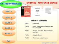 FORD 600,601- 701 801 901 1801 SERVICE REPAIR SHOP MANUAL GAS & DIESEL on USB