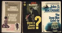 LOT of 3 paperback books by JOHN D. MacDONALD  Covers Scanned info description