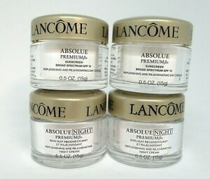 2 Lancome  Absolue Premium Bx Day Cream Spf 15 And /2 Night Cream ~ 15 g x 4