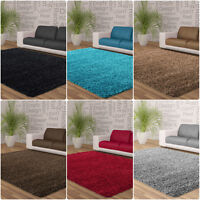 Soft Shaggy Chocolate Beige Red Silver Blue Black Small Large Runner Rug