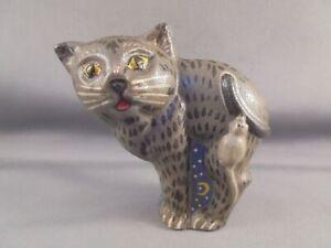 Vaillancourt Folk Art Sutton Mass #52 2001 Cat & Mouse Figure