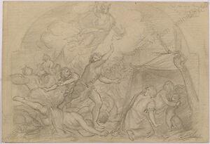 "Robert Scheffer (1859-1934) ""Biblical Scene"", Drawing, 1880s"