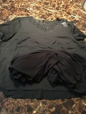 Alfred Dunner Women's Black Shirt Blouse Top Size 24 24W New