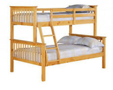 triple sleeper pine bunk bed  strong  sturdy  separates into 2 beds