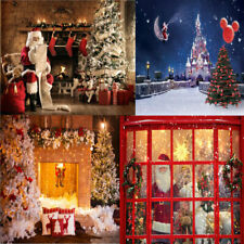 Christmas Santa Claus Photography Backdrops Photo New Year Xmas Background Props