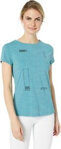 Reebok Crossfit ActivChill Short Sleeve Women's T-shirt XL Turquoise NWT