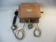 ANCIEN TELEPHONE MURAL A MANIVELLE PRODUIT PAR SOCIETE DE TELEPHONE
